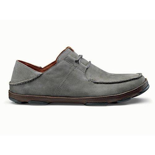 Nubuck Dark Lace Wood OluKai Storm Ohana Up Shoe Grey Men's Ftnnf87w6