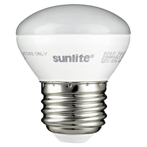 Sunlite 80431-SU LED R14 Mini-Reflector Floodlight 4 Watt (25W Equivalent) Light Bulbs, Medium (E26) Base, 2700K, Warm White, 1 Pack ()