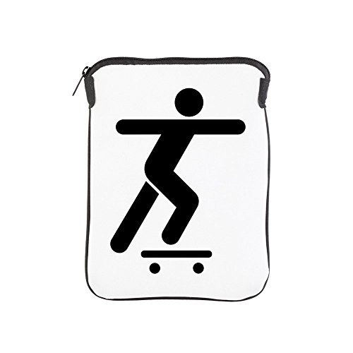 iPad 1 2 3 4 Air II Sleeve Case (2-Sided) Skateboard Skater Traffic Symbol by Truly Teague