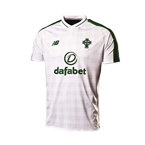 New Balance Men's Celtic FC Away Short Sleeve Jersey, White, ()