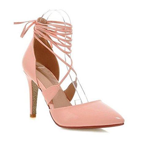 appuntito e gold alti tennis sandali Scarpe con tacco punta incrociati gli Delle con lacci 37 con XIE Shallow 36 PINK sottile Bocca da donne 7pOaSA