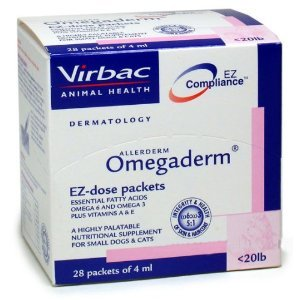Omegaderm EZ Dose Packets Under 20 lbs. (28 packets of 4 ml), My Pet Supplies