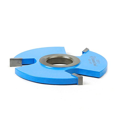 3 Wing Carbide Shaper Cutter - Amana Tool SC611 Carbide Tipped 3-Wing Straight Edge 2-7/8 D x 1/4 CH x 1/2 & 3/4 Bore Shaper Cutter