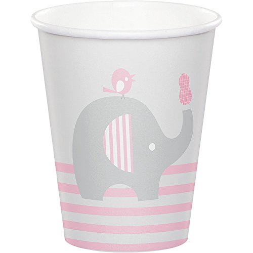 Ounce 9 Circus Cups (Creative Converting 316945 96Count 9 oz Hot/Cold Paper Cups, Little Peanut- Girl, , Little Peanut - Girl)