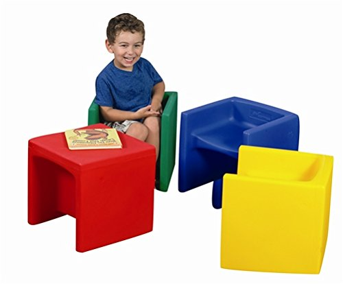 Chair Cube - Set of Solid Colors (4 colors) by Children's Factory