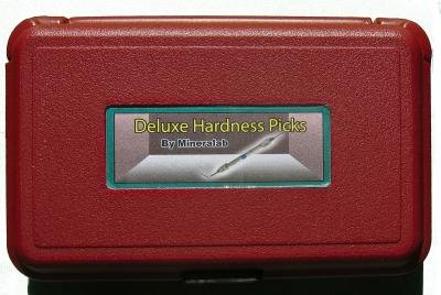 Mineral Identification Mohs' Hardness Pick Set, Mineralab Deluxe Kit, Plastic Case