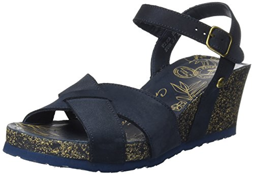 Azul Mujer Jack Basics Para Vika Con Sandalias Cuña navy Panama H76wq8