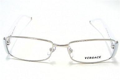 6e0605213f52 Versace 1125-B Eyeglasses 1125B White 1000 Optical Frames  Amazon.co.uk   Clothing