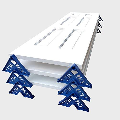 Stak Rack | 4 in 1 Painter's Accessory Tool | Stacking Design | Paint Interior or Exterior Doors, Trim & Kitchen Cabinet Doors| for Contractors & Homeowners (12) (Best Paint For Exterior Door)