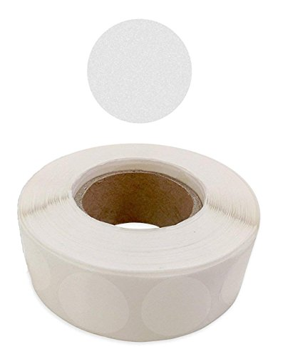 Mess Envelope Mailing Wafer Seals Crystal Clear Translucent Round Shape 1-inch Circle - Extremely Sticky Adhesive Mailing Dots Tab Labels Non-Perforated - (1,000 per Roll)