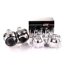 Pair of DDM Tuning Bi Xenon Retrofit Mini H1 Projectors V3 Premium, W/ Mini GG Shrouds, Lifetime Warranty