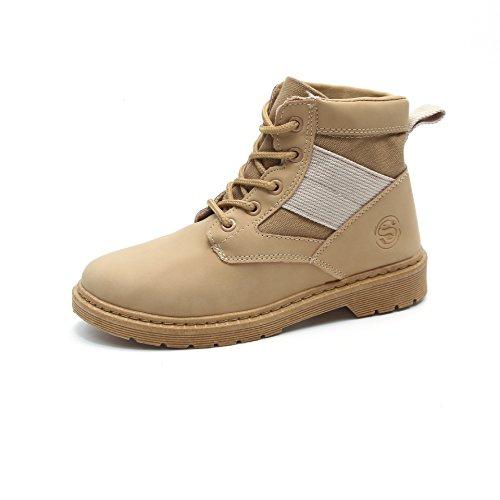 CXQ-Boots qin&X Women's Block Heel Heels Round Head Short Martin Boots Shoes Brown qem73th