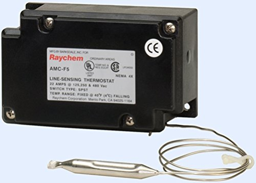 Raychem AMC-F5 Fixed Set Point Thermostat For Pipe Heat Trace Cable. 40F Fixed Set Point. 22 Amp at 125/25/480 VAC ()