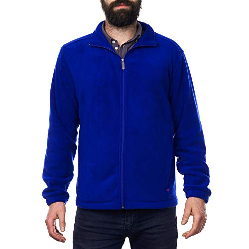 alpine swiss Trent Mens Full Zip Up Fleece Jacket Blue