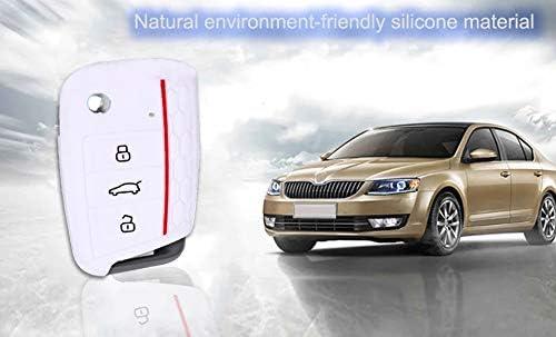 Shanhua Autoschlüssel Cover Silikon Key Shell Key Case Skin Jacke Fit V Olkswagen Golf 7 Weiß Auto