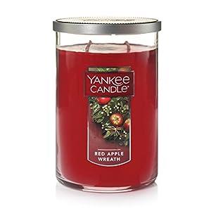 Yankee Candle – Candele profumate a forma di corona di mele, L 2 stoppini