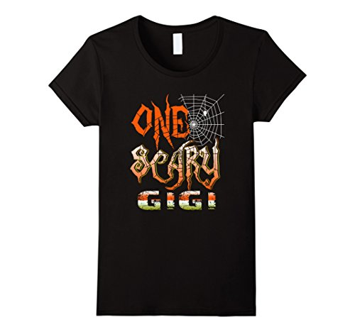 [Womens One Scary Gigi Spider Halloween Costume Shirt Medium Black] (Gigi Costumes)