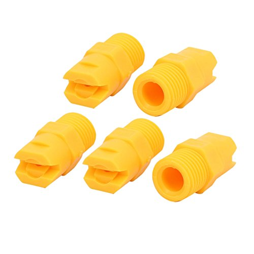 read 80 Degree PP Standard Veejet Flat Fan Spray Tip Yellow 5pcs (Flat Fan Spray)
