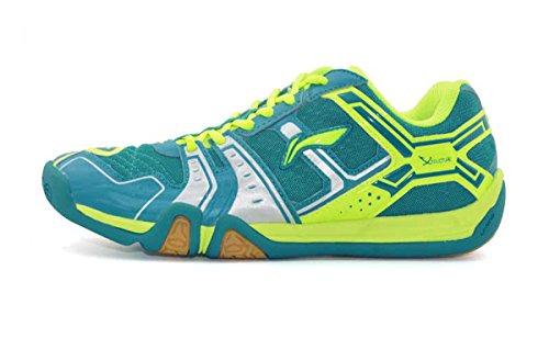 LI-NING Men Saga Lightweight Anti-Slippery Badminton Shoes Breathable Professional Sport Shoes Green...