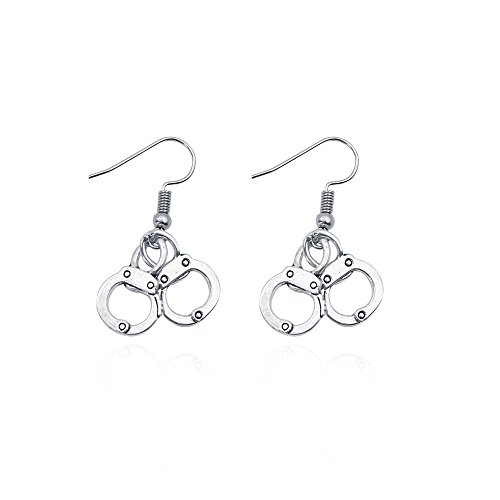 Cute Handcuffs Shape Dangle Hook Earrings for Girl Women -