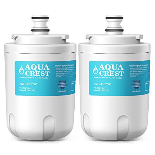 AQUACREST UKF7003 Refrigerator Water Filter, Compatible with Maytag UKF7003, UKF7002AXX, WF288, Whirlpool EDR7D1, EveryDrop Filter 7 (Pack of ()