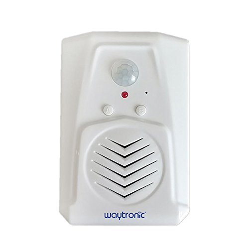 Waytronic Small PIR Infrared Motion Sensor New Year Welcome Doorbell Sound Player Entrance Alarm for Shop Store with USB Cable, Download MP3 Files Freely