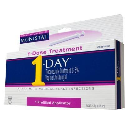 Monistat Vagin Antifongique médicament 1 - journée, 0,16 onces applicateur prérempli