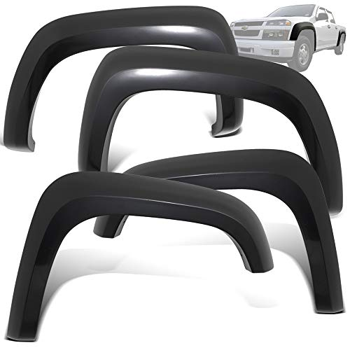 "Price comparison product image Modifystreet Rivet Pocket Style Fender Flares for 04-12 Chevy Colorado / GMC Canyon Styleside (61.1"" / 72.8"" Bed)"