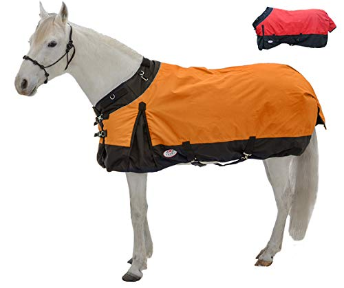 Derby Originals Windstorm Series Reflective Safety 1200D Ripstop Waterproof Nylon Horse Winter Turnout Sheet - Two Year Limited Manufacturer's Warranty, Orange