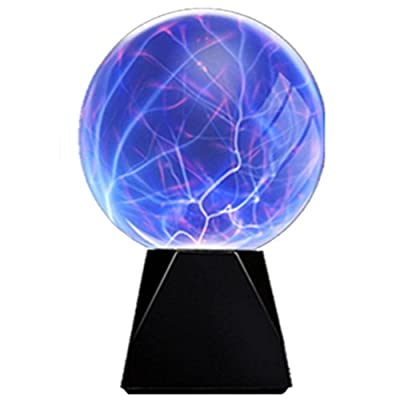 pelddy Touch & Sound Activated,Glass Plasma Ball Party magical ball flashing ball (8 inches)