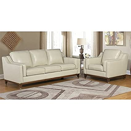 amazon com abbyson clayton 2 piece top grain leather sofa set in rh amazon com
