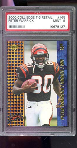 - 2000 Collector's Edge T3 T-3 Retail Peter Warrick #165 Graded Football Card PSA 9 MINT
