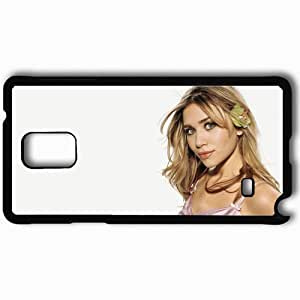 Personalized Samsung Note 4 Cell phone Case/Cover Skin Ashley Olsen Face Beautiful Actress Black