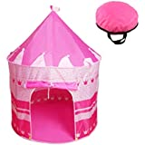 Children Castle Play Tent Boys Girls Prince Princess Playhouse Indoor Outdoor House Blue Foldable Tent Toy Tent with Case