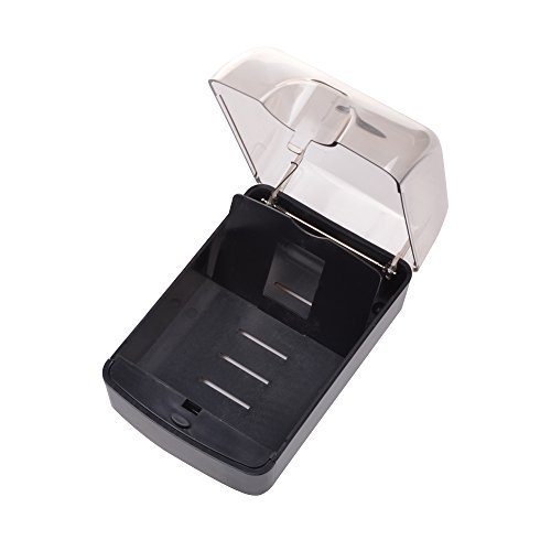 1 X Bluecell Plastic Black/Smoke Color Push-Button Business Card Case Holder , 5 3/4 x 3 3/4 x 2 3/4
