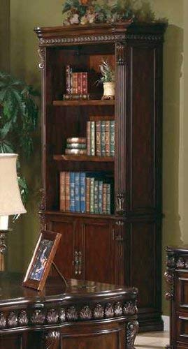 (Coaster Home Furnishings Tucker Open Bookcase with Storage Base Rich Brown)