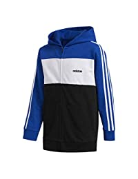 adidas Boys Ls Hooded Jacket, Large/G, Royal