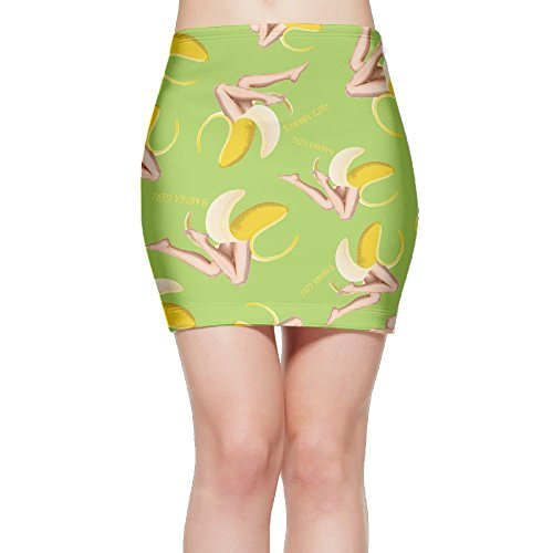 SKIRTS WWE Banana-Girl Women Package Hip High Waist Mini Short Skirts by SKIRTS WWE