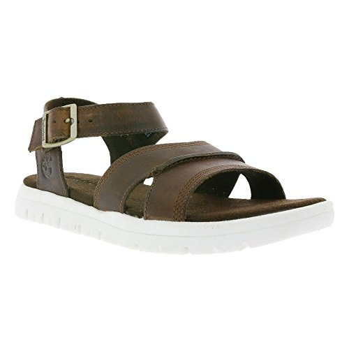 Brown Leather Sport Sandals (Timberland CA13M4 Men's Piermont Backstrap Sandal, Color Brown, Size: 10(M) US)