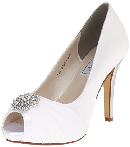 Touch Ups Women's Antonia, White Satin, 6 M ()