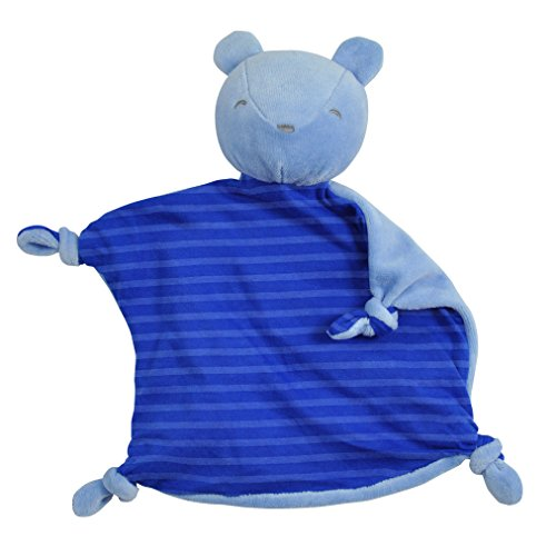 - green sprouts Organic Blankie Animal Bear, Royal, 3 Months Plus