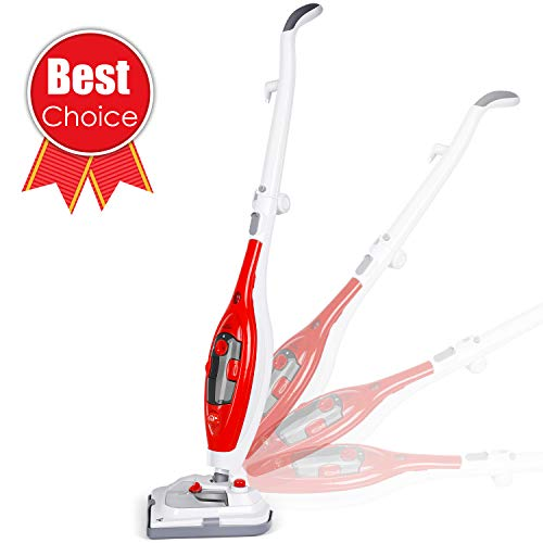 SIMBR Steam Mop, Detachable Steam Cleaner, Multi Function Steamer with 180 Swiveling Head, 1200 W