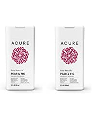 Acure Organics Body Beautiful Pear and Fig Shampoo + Conditioner Bundle, With Luscious Aloe and Rare Prickly Pear Cactus Oil, For Wonderous Waves, 12 fl. oz. each