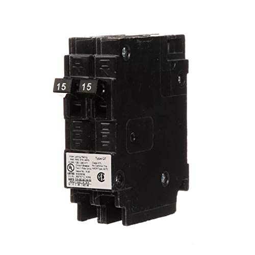 (Siemens Q1515 Two 15-Amp Single Pole 120-Volt Circuit Breakers, for use only where Type QT breakers are)