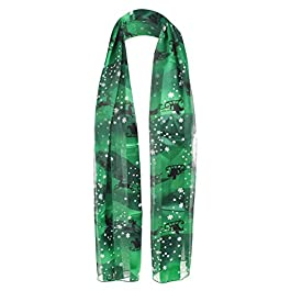 Beautiful New Christmas festive Satin Stripe Reindeer Snow Flake scarves Wrap Stole Neck Tie Shawl Scarf