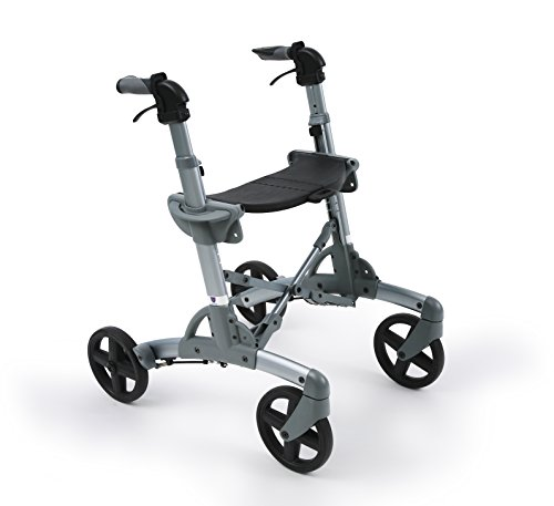 Volaris All Terrain Smart Shadow Rolling Walker With Seat And Wheels  Lightweight  Folding  Aluminum