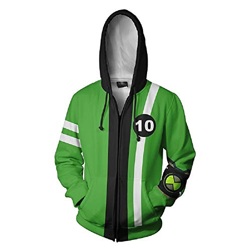 Cartoon Cosplay Jacket 3D Zipper Hoodies Halloween Cosplay Costume A-L]()