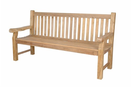 - Anderson Teak Devonshire 4-Seater Extra Thick Bench, Natural