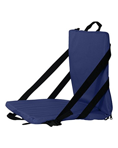 Liberty Portable Folding Padded Stadium Cushion Chair Seat (Navy)