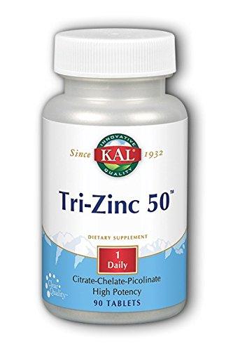 Amazon Com Kal 50 Mg Tri Zinc Tablets 90 Count Health Personal Care